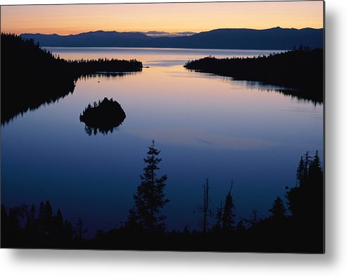emerald Bay Metal Print featuring the photograph Twilight Over Emerald Bay by Phil Schermeister