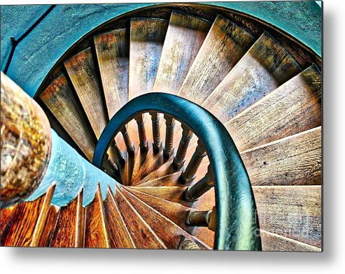 Blue Metal Print featuring the photograph Twisted Blues by Phil Cappiali Jr