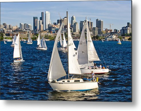 Seattle Metal Print featuring the photograph Two Pass By by Tom Dowd