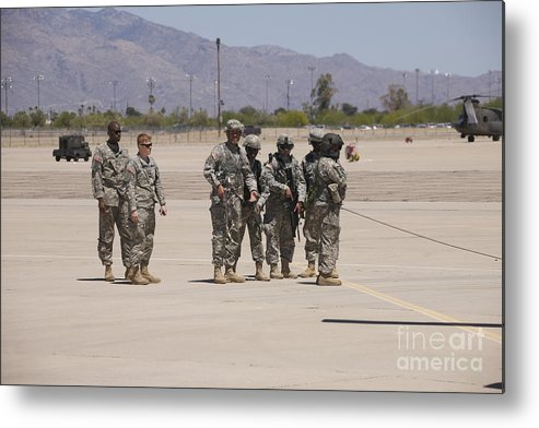 Exercise Angel Thunder Metal Print featuring the photograph Uh-60 Black Hawk Aircrew Conduct by Terry Moore