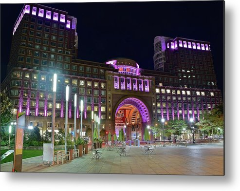 Boston Metal Print featuring the photograph Umass Night Image by Frozen in Time Fine Art Photography