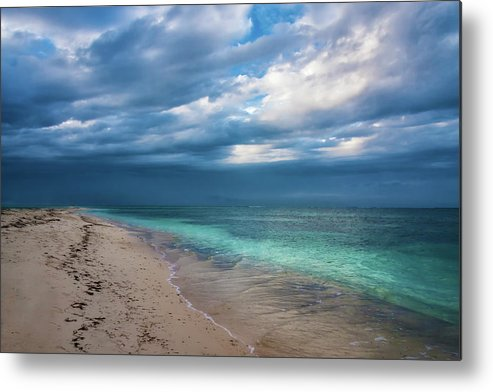 Ocean Metal Print featuring the photograph Uncertainty 5780 by Karen Celella