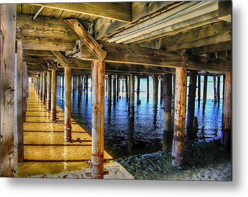 Under Metal Print featuring the photograph Under The Boardwalk by Pat Cook