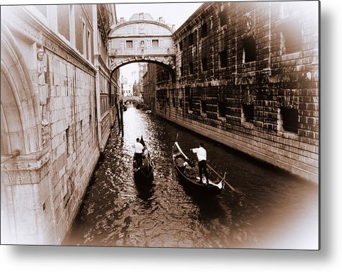 Amber Metal Print featuring the photograph Under The Bridge by Eggers Photography