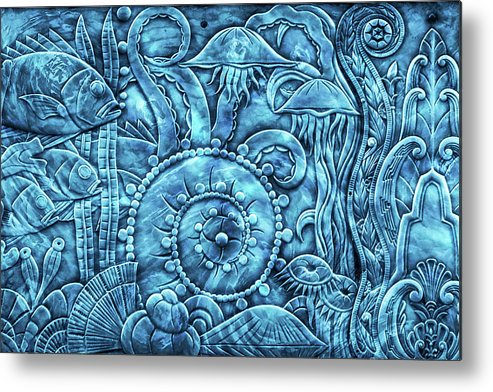 Under The Sea Metal Print featuring the mixed media Under The Sea by Di Designs