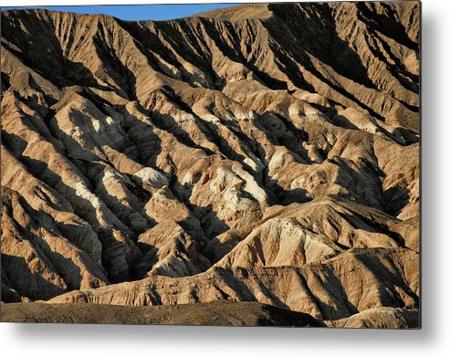 Death Valley National Park Metal Print featuring the photograph Unearthly World - Death Valley's Badlands by Christine Till