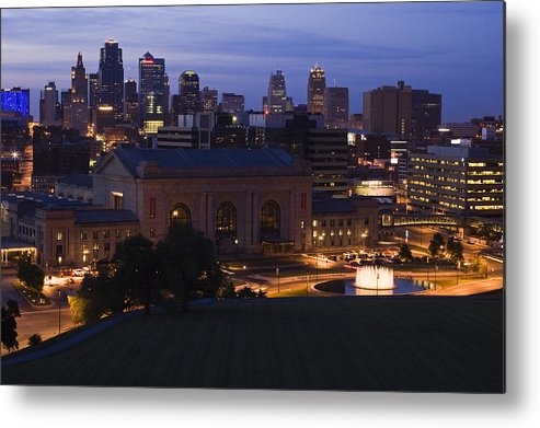 Union Station Metal Print featuring the photograph Union Station Kansas City by Chad Davis