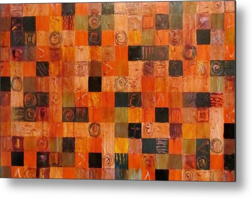 Abstract Metal Print featuring the painting Unmethodical Device by Keith Johnson