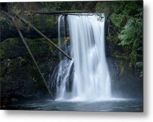 Autumn Metal Print featuring the photograph Upper North Falls by Robert Potts