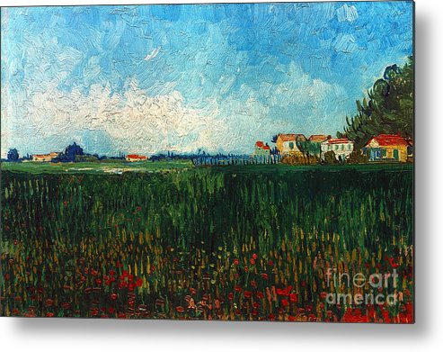 1888 Metal Print featuring the photograph Van Gogh: Landscape, 1888 by Granger