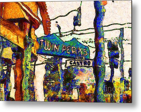 Cityscape Metal Print featuring the photograph Van Gogh Takes A Wrong Turn And Discovers The Castro In San Francisco . 7d7547 by Wingsdomain Art and Photography