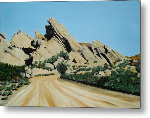 Rocks Metal Print featuring the painting Vasquez Rocks by Stephen Ponting