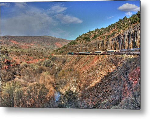 Scenic Metal Print featuring the photograph Verde Canyon Rr by Douglas Settle