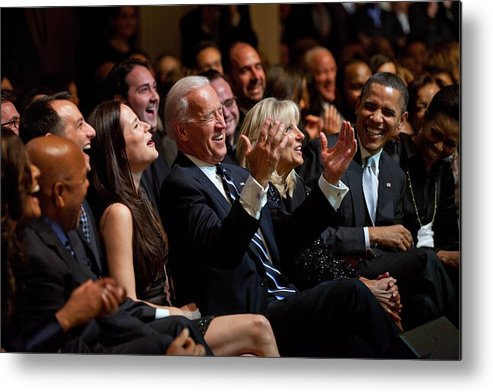 History Metal Print featuring the photograph Vice President Joe Biden Flanked by Everett