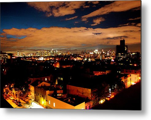 Brooklyn And City Metal Print featuring the photograph View From Brooklyn by Brian Vitagliano