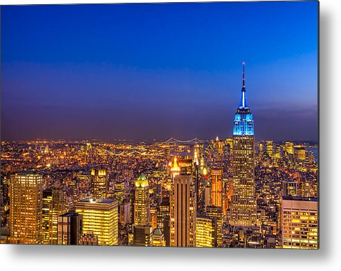 New York Metal Print featuring the photograph View From The Top - Nyc Skyline by Mark E Tisdale