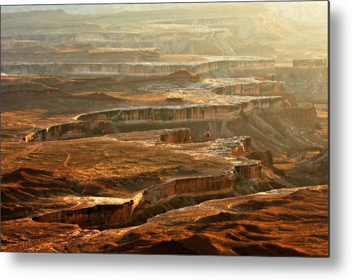Landscape Metal Print featuring the photograph View Of Canyonlands by Carl Jackson
