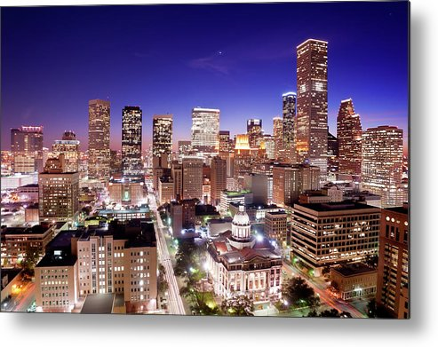 Horizontal Metal Print featuring the photograph View Of Cityscape by jld3 Photography