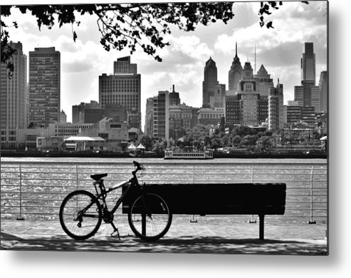 Philadelphia Metal Print featuring the photograph View Of Philadelphia by Andrew Dinh