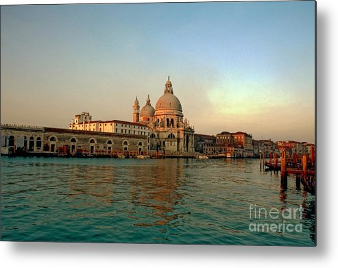 Venice Metal Print featuring the photograph View Of Santa Maria Della Salute On Grand Canal In Venice by Michael Henderson
