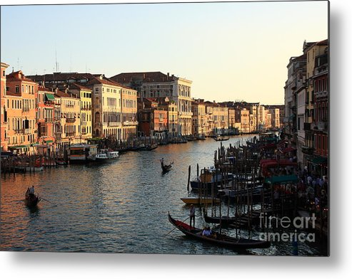 Venice Metal Print featuring the photograph View Of The Grand Canal In Venice From The Rialto Bridge by Michael Henderson