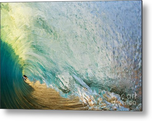 Amazing Metal Print featuring the photograph View Through Wave Tube by MakenaStockMedia