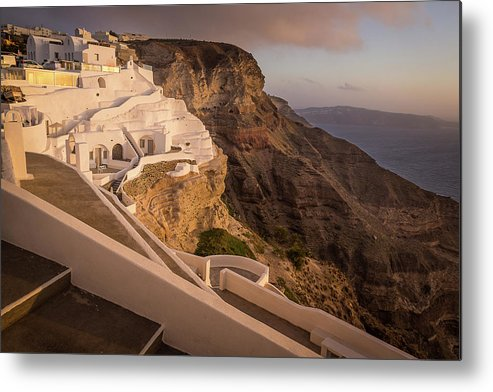 Island Metal Print featuring the photograph Villa At Santorini by BBrave Photo
