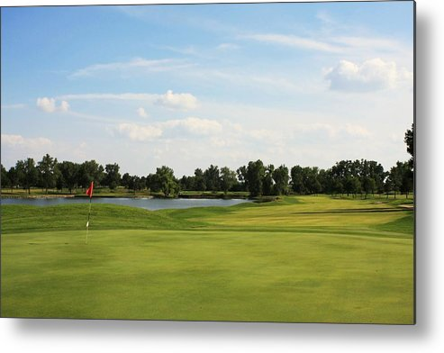 Golf Metal Print featuring the photograph Village Greens Golf Course Hole 17 by Jim Darnall