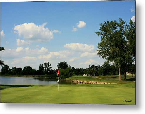 Golf Metal Print featuring the photograph Village Greens Hole 16 by Jim Darnall