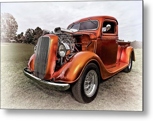 Automobile Metal Print featuring the photograph Vintage Ford Truck Rod by Marcia Colelli