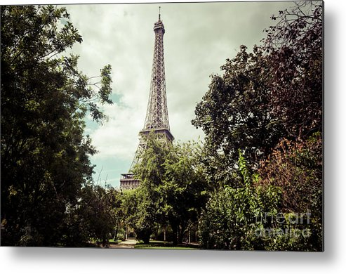 Architecture Metal Print featuring the photograph Vintage Paris Landscape by Paul Warburton