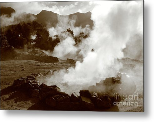 Azores Metal Print featuring the photograph Volcanic Steam by Gaspar Avila