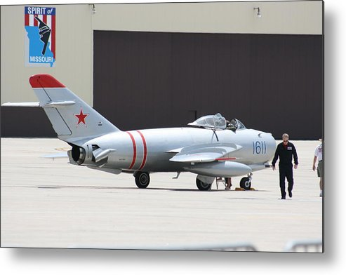 Airplane Metal Print featuring the photograph Wafb 09 Mig 17 Russian 6 by David Dunham