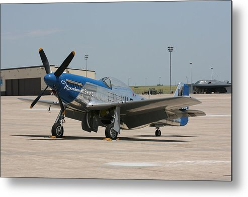Airplane Metal Print featuring the photograph Wafb 09 P-51 Mustang 3 - Darling Of The Sky by David Dunham