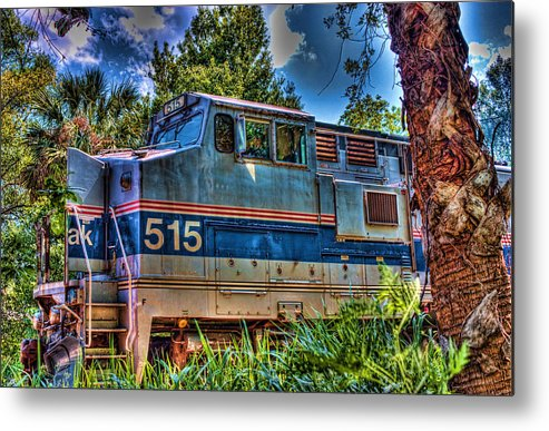 Trains Metal Print featuring the photograph Waiting In The Woods by Joetta West