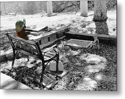 Cemetery Metal Print featuring the photograph Waiting by Michael Brown