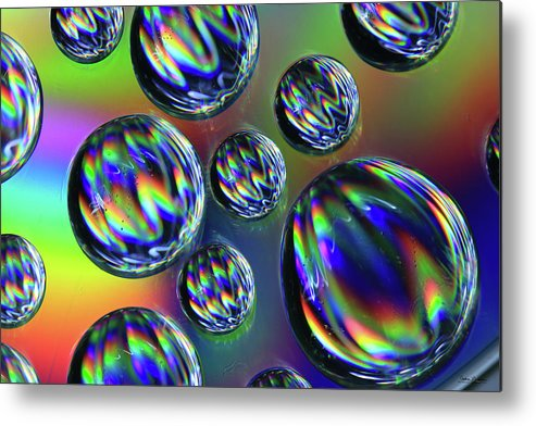 Saskatchewan Metal Print featuring the digital art Water Droplets 4 by Andrea Lawrence