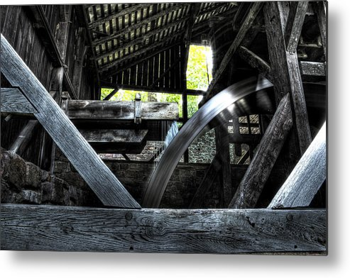 Farm Metal Print featuring the photograph Water Wheel by Scott Wyatt