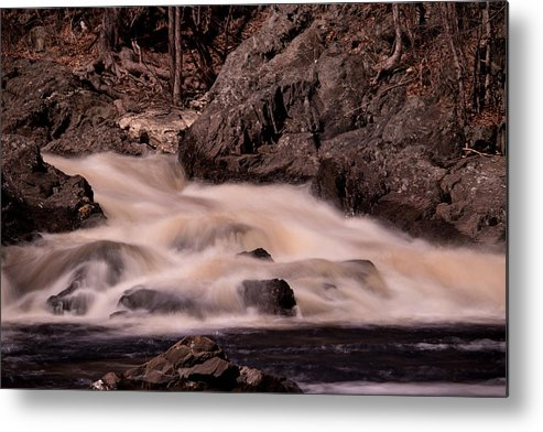 Water Metal Print featuring the photograph Waterfalls #1 by James Nalesnik