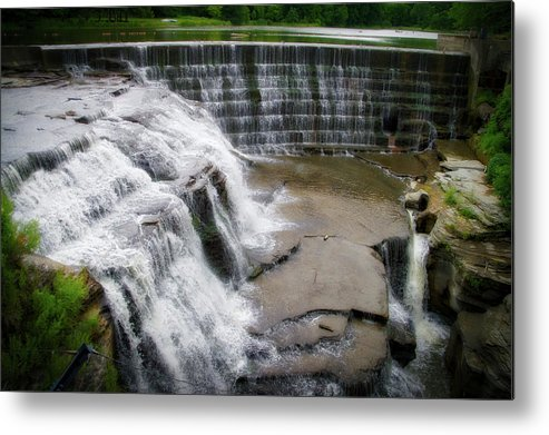 Cornell University Metal Print featuring the photograph Waterfalls Cornell University Ithaca New York 06 by Thomas Woolworth