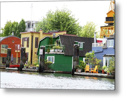 Waterfront Metal Print featuring the photograph Waterfront Houses by Dustin Woods