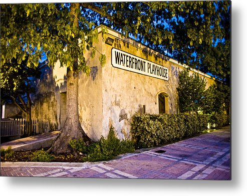 Theater Metal Print featuring the photograph Waterfront Playhouse by Sarita Rampersad
