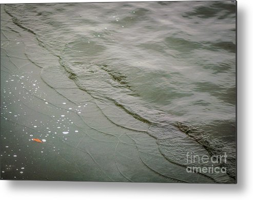 Wave Metal Print featuring the photograph Waves On The Ice by Lyudmila Prokopenko