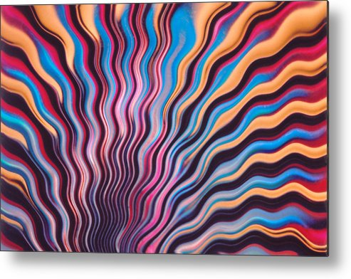 Wavy Metal Print featuring the photograph Wavy Fringe by Greg Taylor