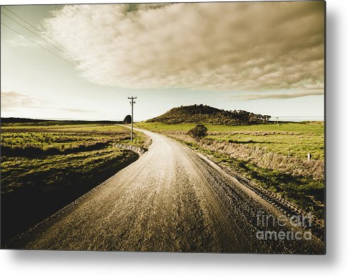 Road Metal Print featuring the photograph Way Out Yonder by Jorgo Photography - Wall Art Gallery