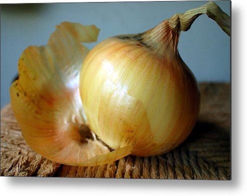 Food Metal Print featuring the photograph We All Have Layers by Heather S Huston