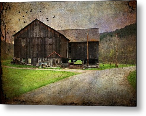 Barn Metal Print featuring the photograph Weathered Barn by Stephanie Calhoun