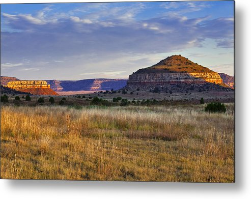 Black Mesa Metal Print featuring the photograph Wedding Cake Ranch by Charles Warren