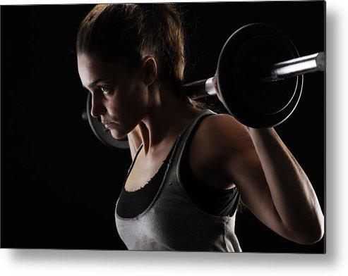 Weightlifting Metal Print featuring the digital art Weightlifting by Dorothy Binder