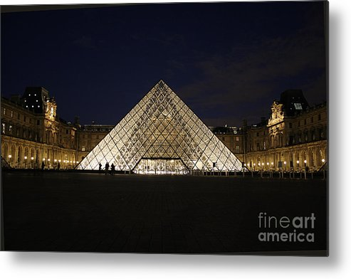 Louvre Museum Metal Print featuring the photograph Welcome To The Louvre by Joshua Francia